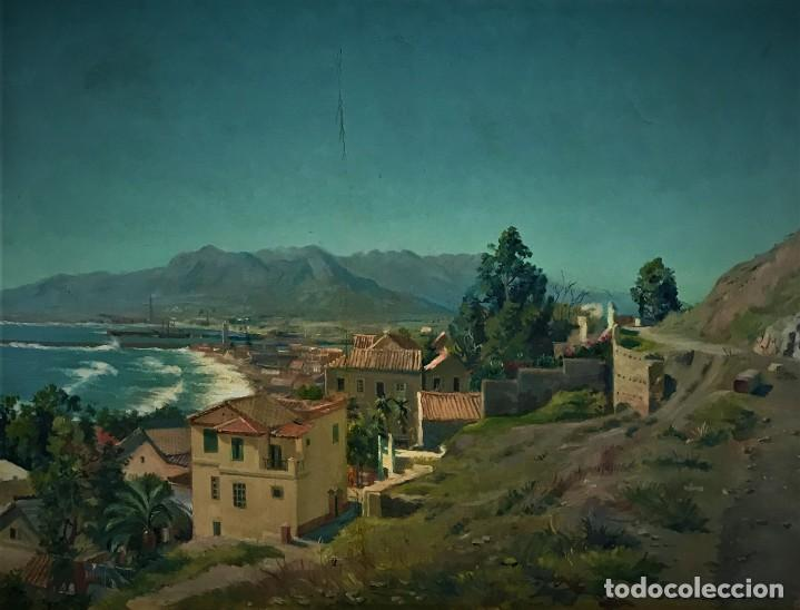 ESPECTACULAR VISTA DE MALAGA, KARL WEISE (Arte - Pintura - Pintura al Óleo Contemporánea )
