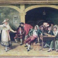 Kunst - Escena costumbrista romántica, óleo/tabla - 162787806