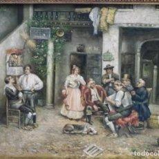 Kunst - Escena costumbrista en un patio, óleo/tabla - 162788414