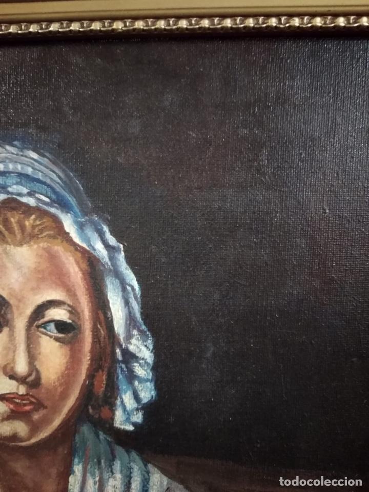 Arte: Magnifico óleo sobre lienzo a identificar, firmado - Foto 3 - 162974488