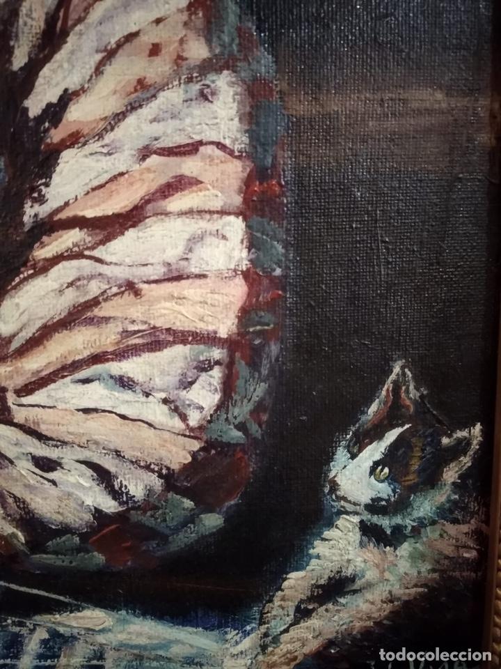 Arte: Magnifico óleo sobre lienzo a identificar, firmado - Foto 4 - 162974488