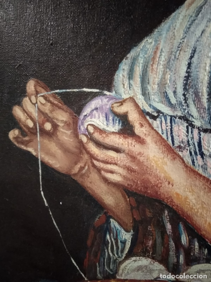 Arte: Magnifico óleo sobre lienzo a identificar, firmado - Foto 5 - 162974488
