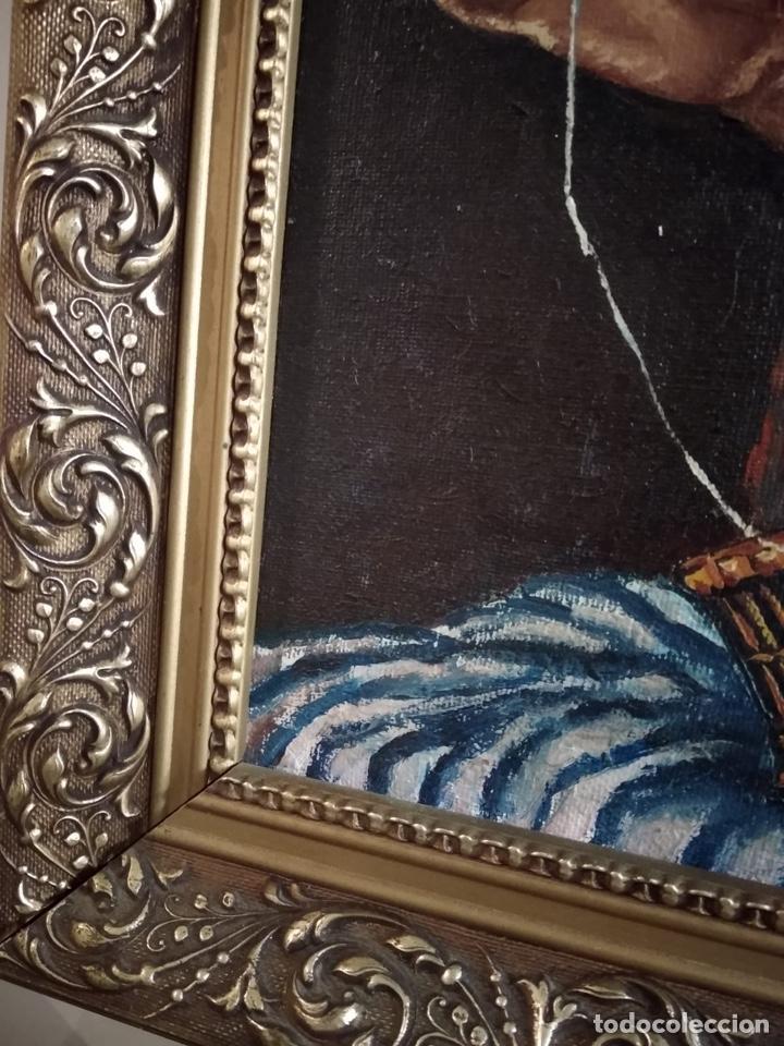 Arte: Magnifico óleo sobre lienzo a identificar, firmado - Foto 7 - 162974488