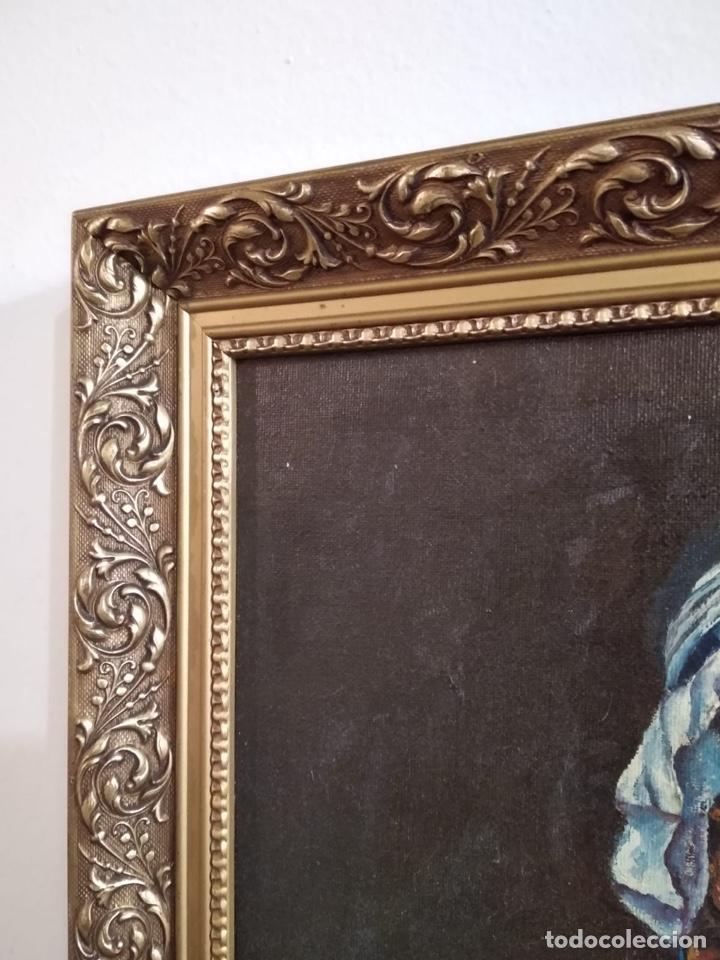 Arte: Magnifico óleo sobre lienzo a identificar, firmado - Foto 9 - 162974488