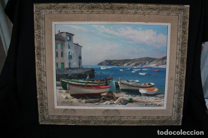 EZEQUIEL TORROELLA ( PALAMOS 1921- 1988 ) OLEO/TELA, PRECIOSA MARINA. MEDIDAS, 61,5 X 46 (Arte - Pintura - Pintura al Óleo Contemporánea )