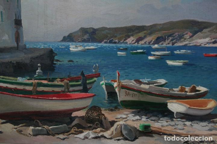 Arte: EZEQUIEL TORROELLA ( PALAMOS 1921- 1988 ) OLEO/TELA, PRECIOSA MARINA. MEDIDAS, 61,5 X 46 - Foto 5 - 163015710