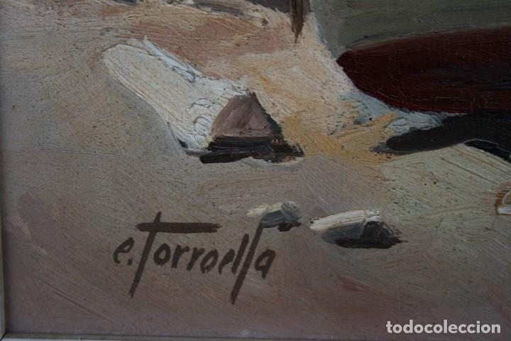 Arte: EZEQUIEL TORROELLA ( PALAMOS 1921- 1988 ) OLEO/TELA, PRECIOSA MARINA. MEDIDAS, 61,5 X 46 - Foto 6 - 163015710