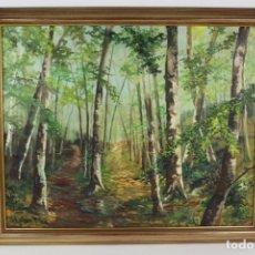 Arte - B-583. OLEO SOBRE LIENZO,PAISAJE. FIRMADO. S.XX. - 163040202