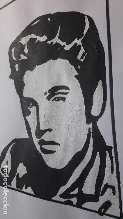 Arte: MANOLO IBÁÑEZ. ELVIS.ACRILICO SOBRE PAPEL 65 X 50 CM. - Foto 4 - 163326702