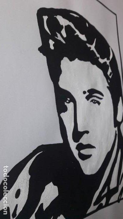 Arte: MANOLO IBÁÑEZ. ELVIS.ACRILICO SOBRE PAPEL 65 X 50 CM. - Foto 5 - 163326702