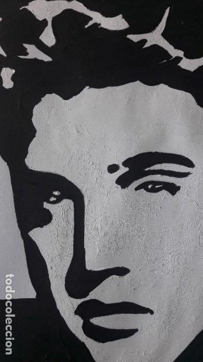 Arte: MANOLO IBÁÑEZ. ELVIS.ACRILICO SOBRE PAPEL 65 X 50 CM. - Foto 6 - 163326702