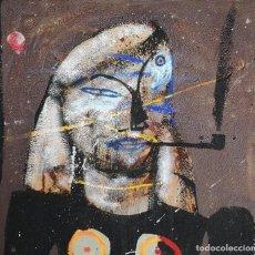 Arte: CABEZAS, JORGE (CORUÑA, 1972). FUMANDO EN PIPA. TÉCNICA MIXTA SOBRE LIENZO. Lote 163339034