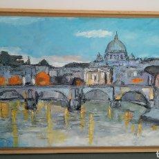 Arte: ROMA ÓLEO LIENZO IMPRESIONISMO CUADRO. Lote 163342245