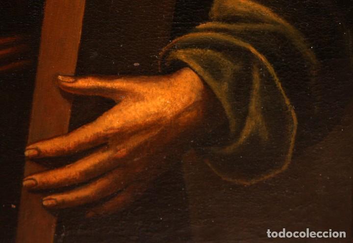 Arte: ESCUELA ESPAÑOLA DEL SIGLO XVIII. OLEO SOBRE TELA. SANTO CON CRUZ - Foto 5 - 163365670