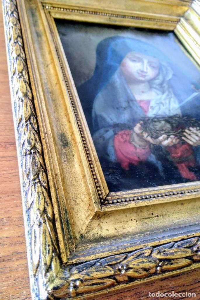 Arte: Virgen Dolorosa, Óleo sobre cobre S. XVIII - Foto 16 - 160485586