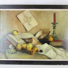 Arte: CUADRO PINTURA OLEO SOBRE LIENZO BONITO BODEGON S. XIX-XX SOBRE JOSE MARTORELL PUIGDOMENECH ?. Lote 163418466