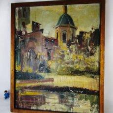 Arte: JOSE COZAR VIEDMA. ( BAEZA, JAEN-1944) OLEO IMPRESIONISTA TELA VALENCIA REFLEJOS 1963 . Lote 163419246