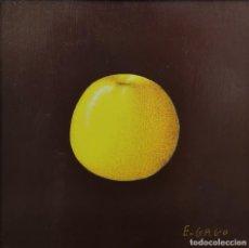 Arte: ELENA GAGO (A CORUÑA 1940 - 2011). FRUTA. TÉCNICA MIXTA SOBRE TABLA.. Lote 163444606