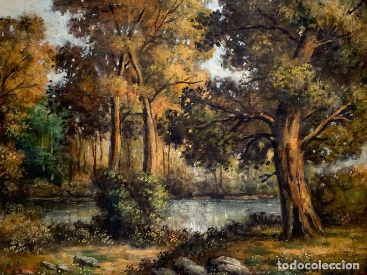 Arte: OLEO SOBRE LIENZO FIRMADO L. FRANTONET ESCENA BOSQUE - Foto 3 - 163449826