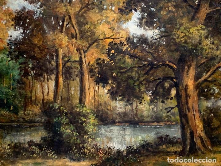 Arte: OLEO SOBRE LIENZO FIRMADO L. FRANTONET ESCENA BOSQUE - Foto 4 - 163449826