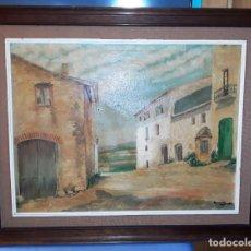 Arte: ANTIGUA PINTURA AL OLEO FIRMADA AUTOR GUASCH ORIGINAL VER FOTOS Y DESCRIPCION. Lote 163457578