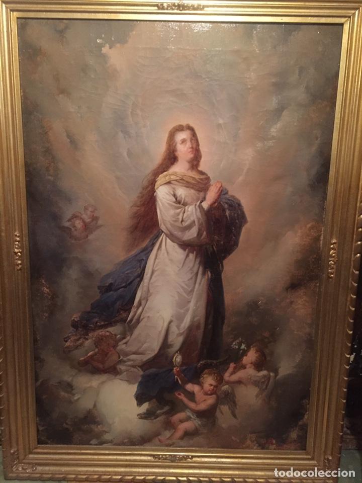 OLEO VIRGEN DE JUAN MAESTRE Y BOSCH AÑO 1875(PIEZA EN MALLORCA PARA VERLA)(MALLORCA) (Arte - Pintura - Pintura al Óleo Antigua sin fecha definida)