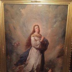 Arte: OLEO VIRGEN DE JUAN MAESTRE Y BOSCH AÑO 1875(PIEZA EN MALLORCA PARA VERLA)(MALLORCA). Lote 163477841
