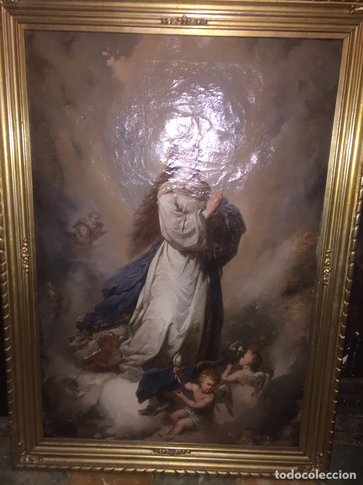 Arte: Oleo virgen de Juan maestre y Bosch año 1875(pieza en Mallorca para verla)(Mallorca) - Foto 2 - 163477841