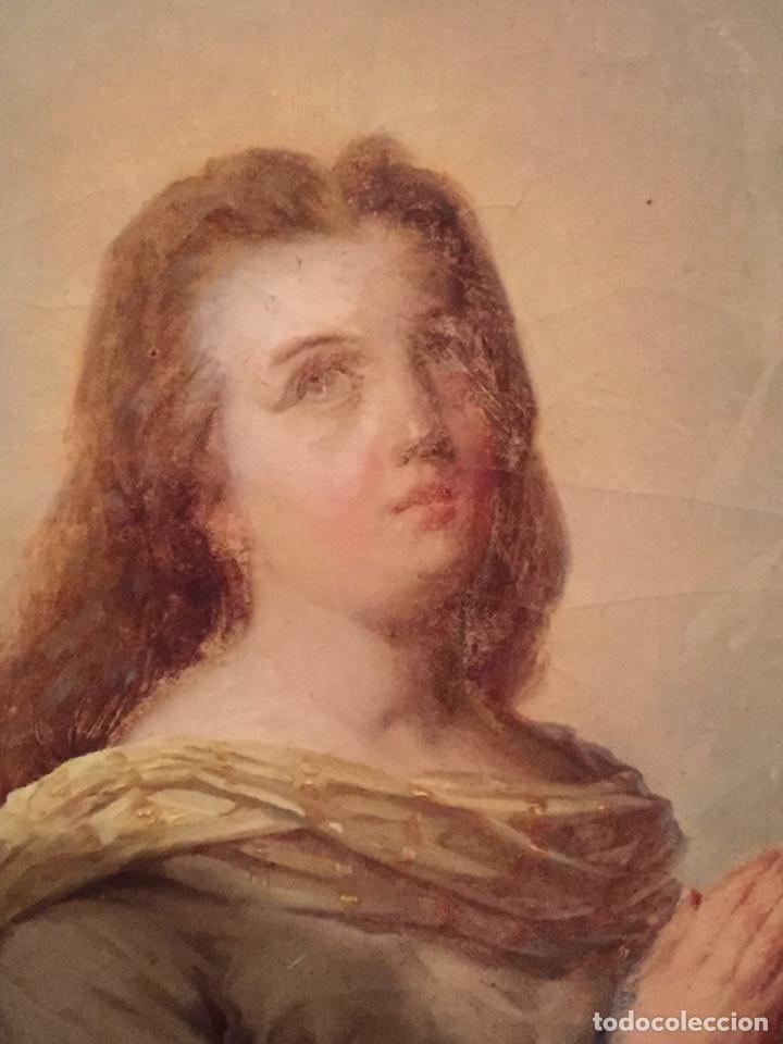 Arte: Oleo virgen de Juan maestre y Bosch año 1875(pieza en Mallorca para verla)(Mallorca) - Foto 3 - 163477841