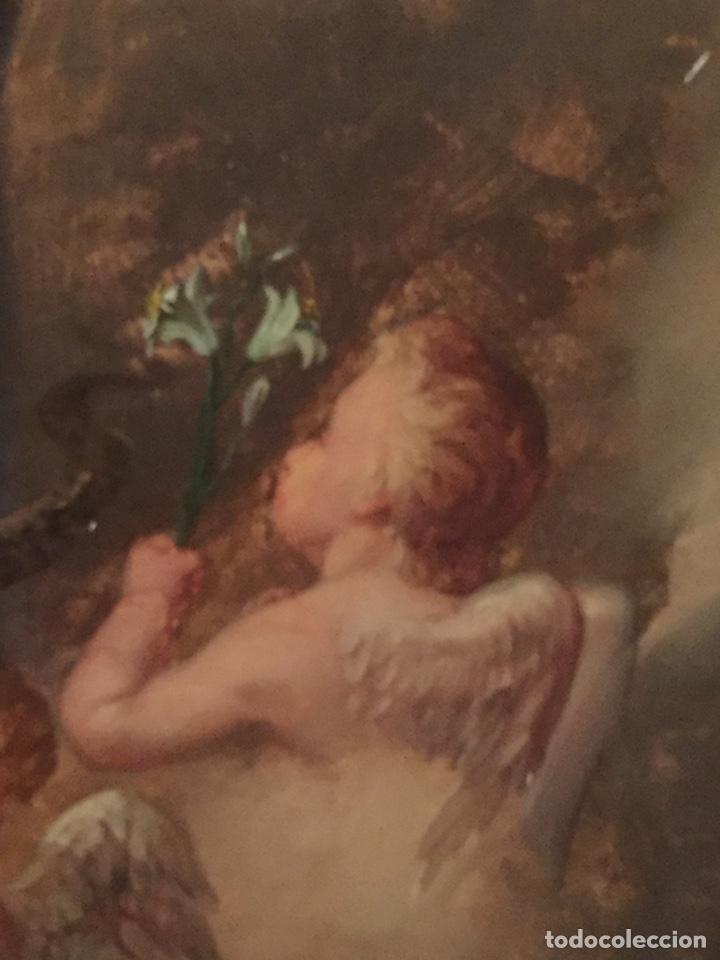 Arte: Oleo virgen de Juan maestre y Bosch año 1875(pieza en Mallorca para verla)(Mallorca) - Foto 6 - 163477841