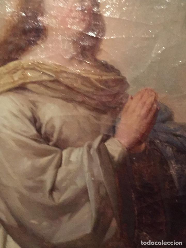 Arte: Oleo virgen de Juan maestre y Bosch año 1875(pieza en Mallorca para verla)(Mallorca) - Foto 8 - 163477841