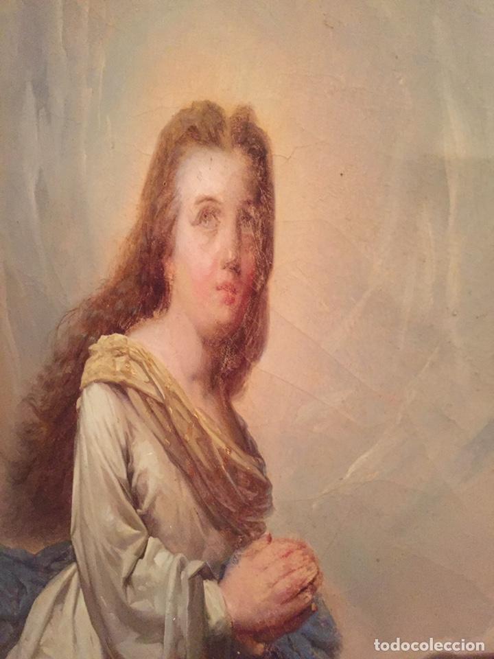 Arte: Oleo virgen de Juan maestre y Bosch año 1875(pieza en Mallorca para verla)(Mallorca) - Foto 10 - 163477841