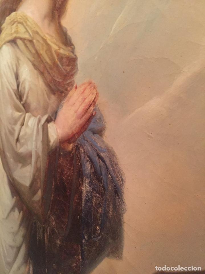 Arte: Oleo virgen de Juan maestre y Bosch año 1875(pieza en Mallorca para verla)(Mallorca) - Foto 11 - 163477841