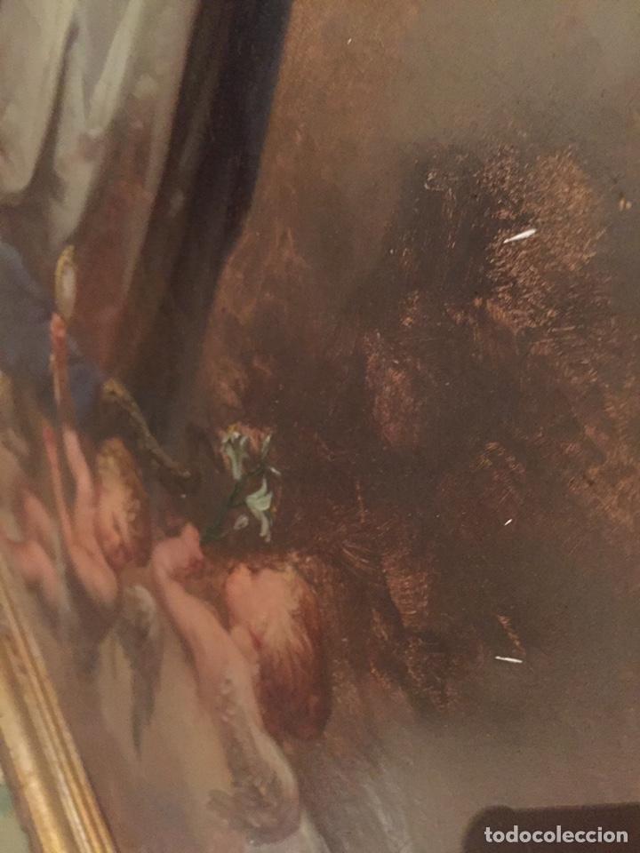 Arte: Oleo virgen de Juan maestre y Bosch año 1875(pieza en Mallorca para verla)(Mallorca) - Foto 12 - 163477841