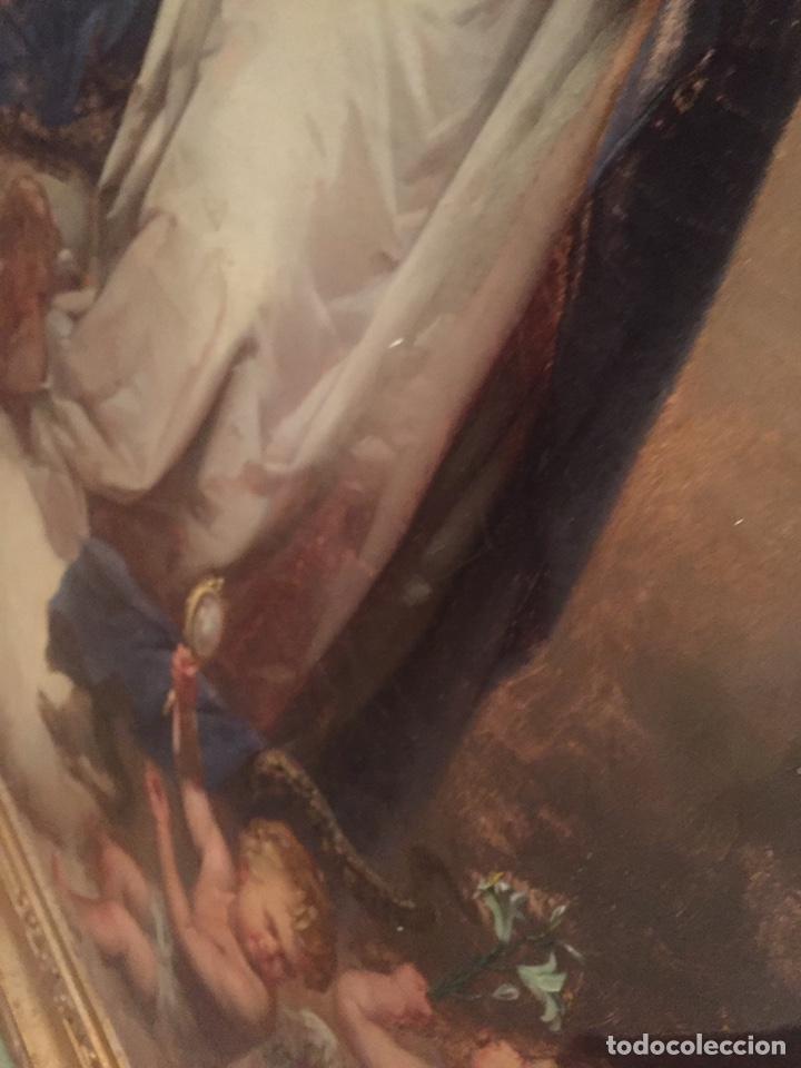 Arte: Oleo virgen de Juan maestre y Bosch año 1875(pieza en Mallorca para verla)(Mallorca) - Foto 13 - 163477841
