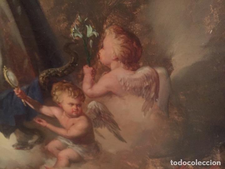 Arte: Oleo virgen de Juan maestre y Bosch año 1875(pieza en Mallorca para verla)(Mallorca) - Foto 15 - 163477841