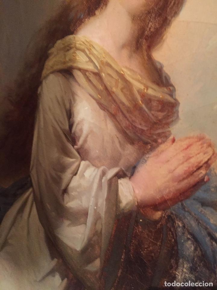 Arte: Oleo virgen de Juan maestre y Bosch año 1875(pieza en Mallorca para verla)(Mallorca) - Foto 17 - 163477841
