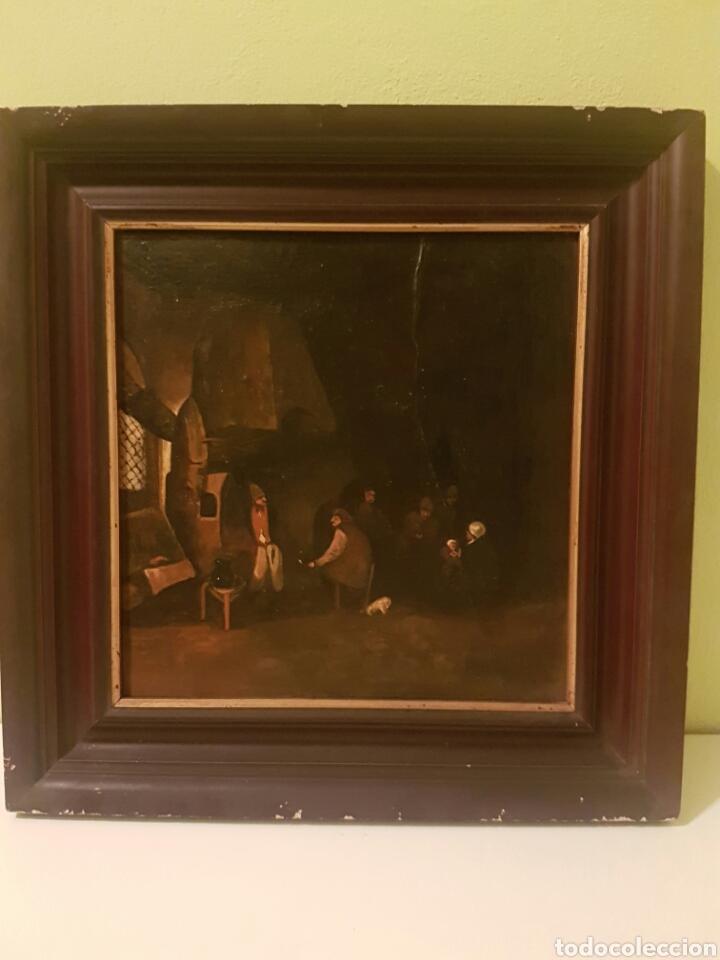 ANTIGUO ÓLEO PINTADO SOBRE TABLA (Arte - Pintura - Pintura al Óleo Antigua siglo XVIII)