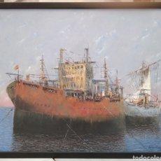Arte: ÓLEO SOBRE LIENZO FIRMADO (FRANCISCO) MORENO ORTEGA. Lote 163687605