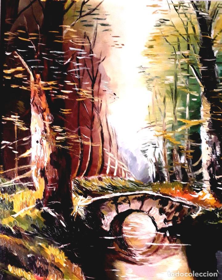 PUENTE OBRA DE GILABERTE INCLUYO MARCO (Arte - Pintura - Pintura al Óleo Contemporánea )