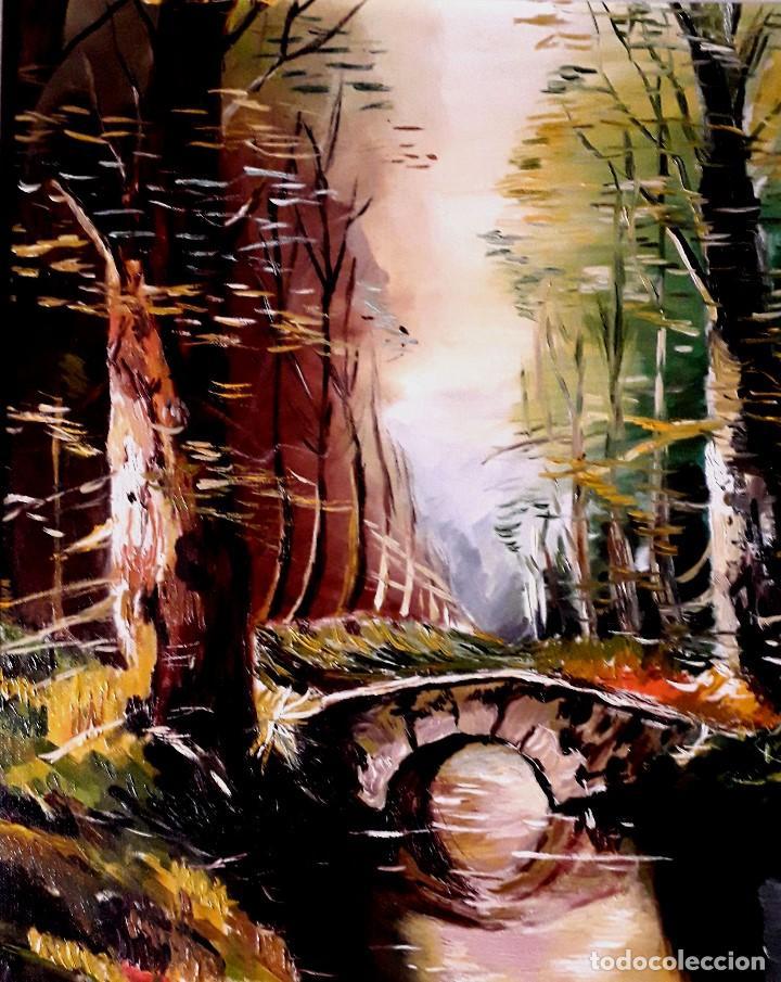Arte: Puente obra de Gilaberte incluyo marco - Foto 2 - 163789282