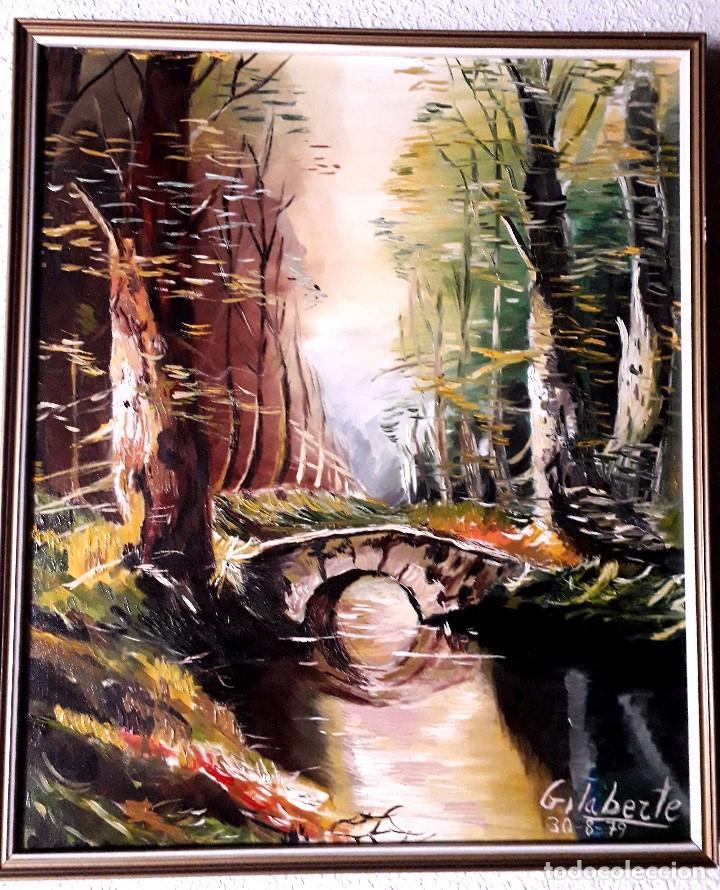 Arte: Puente obra de Gilaberte incluyo marco - Foto 4 - 163789282