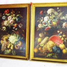 Arte: GRAN PAREJA DE PINTURAS CUADROS OLEOS BODEGONES ANTIGUOS JOSE MARTORELL PUIGDOMENECH. Lote 163797194