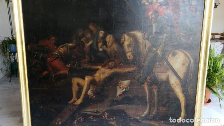 GRAN OLEO LIENZO ATRIBUIDO A JOSE MATEOS FERRER , LORCA (Arte - Pintura - Pintura al Óleo Antigua siglo XVII)