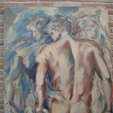 Arte: CUADRO PINTADO AL OLEO SOBRE LIENZO.. Lote 163966106