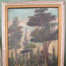 Arte: OLEO SOBRE TABLA (FRONDA BOSCOSA). Lote 164008218