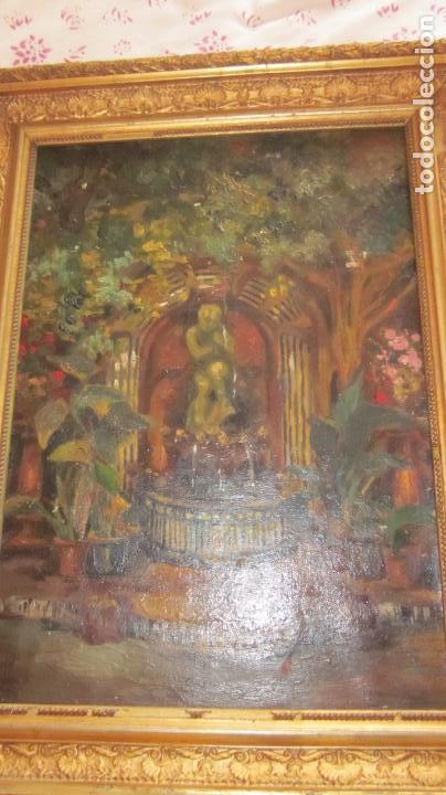 Arte: Pintura oleo sobre tela S-XIX sin firmar - Foto 2 - 164180034