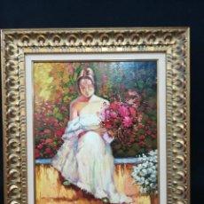 Arte: ESCENA ROMANTICA POR EL ARTISTA JUAN HERNANDEZ. Lote 164308594