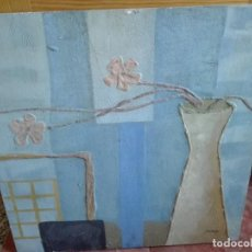 Arte: FLOR MUERTA AL ÓLEO MEDIDAS 60 X 60. Lote 164455774