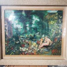 Arte: REINTERPRETACIÓN OBRA DE RENOIR, PINTADA AL OLEO, MEDIDAS MARCO INCLUIDO 64X54CM. Lote 164587020
